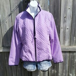 Lavender Zip Up Jacket