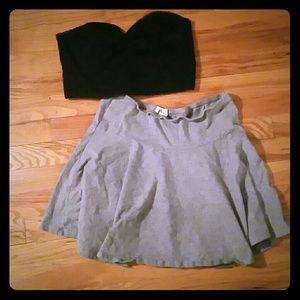 Forever twenty one skirt and bralette.