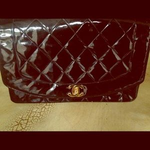 Vintage Chanel Diana Flap Patent Leather Bag