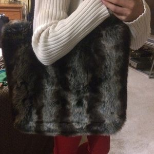 Handmade faux fur bag by C. Marie company in dc