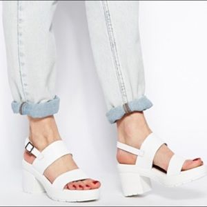 ASOS White Chunky Platform Sandals