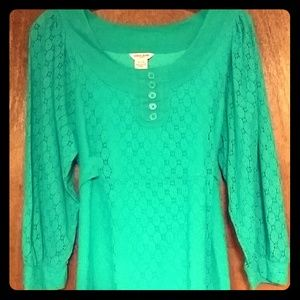 Guess Jeans teal empire waist lace dress