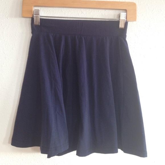 russe navy blue skater skirt from jean s