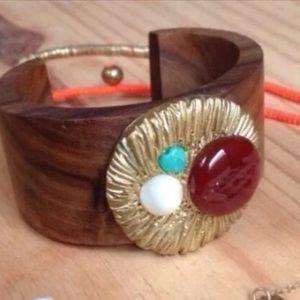Anthropologie Wood Cuff Bracelet $148