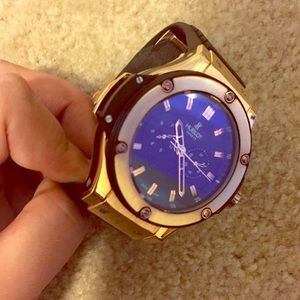 Hublot Jewelry - Hublot Black and Gold Watch