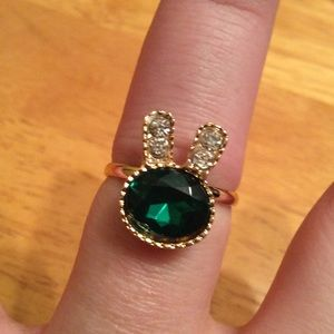 Jewelry - Golden Green Bunny Ring *LowestPriceUnlessBundled*