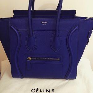 celine micro purse - Celine - ??SOLD??Celine Micro Luggage Indigo Blue from ...