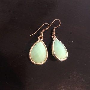 Mint green teardrop earrings
