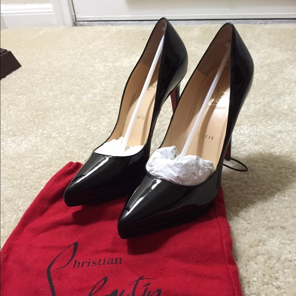 aaa39925312c Christian Louboutin Shoes - Pigalle Plato 120 Black Patent 38.5