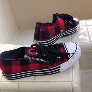 Gotta Flurt Shoes - Red and black plaid Gotta Flurt sneakers