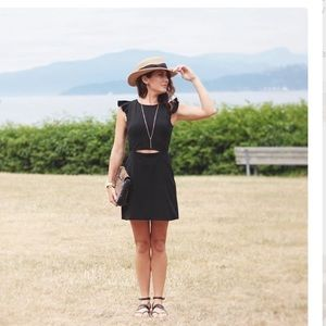 Rayon black dress