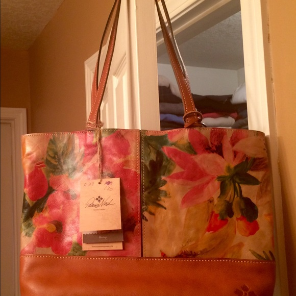 4f71d33a3d7 Patricia Nash Bags | Reduced Vegan Leather Floral Tote | Poshmark