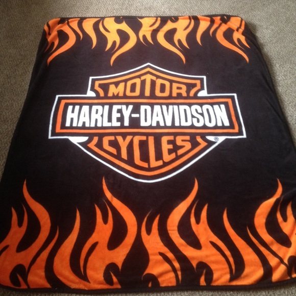 Harley Davidson Other Authentic Fleece Blanket Poshmark Simple Harley Davidson Blankets And Throws