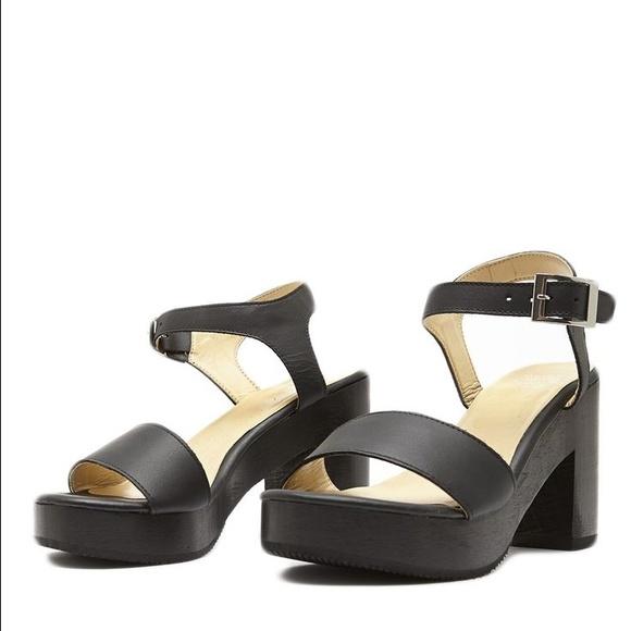 309b27c8726 American Apparel Shoes - American Apparel wooden heel sandal