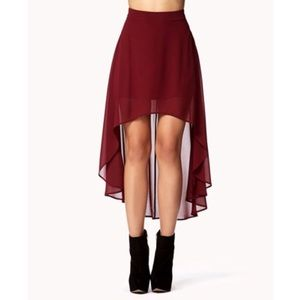 High waisted high-low skirt in perfect condition!