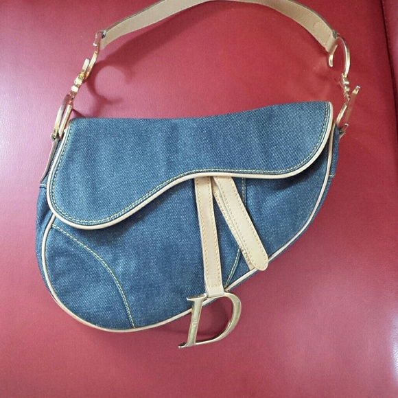 2dcb7e65b188 Christian Dior Handbags - Christian Dior Denim Saddle bag.