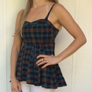 NEW Free People plaid top