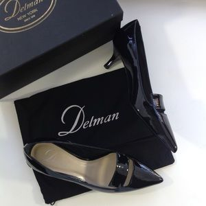 Delman Shoes - New DELMAN classic black patent pumps 5.5