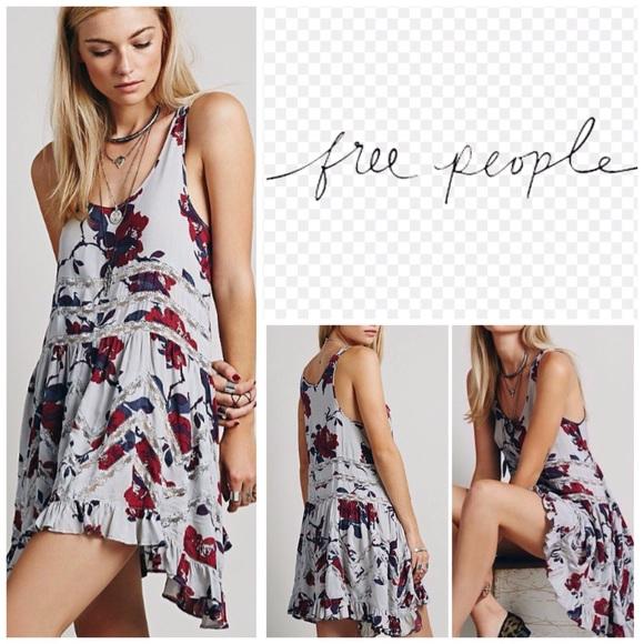 cef2c8f79dac Free People Dresses   Floral Trapeze Slip Dress Nwt   Poshmark