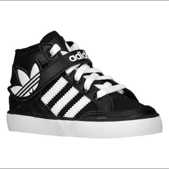 Adidas Originals Hard Court Toddler Hi-Top Sneaker