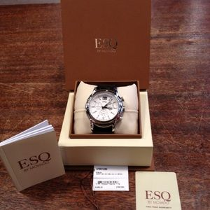 Esq by movado. Purchased as a gift. Never worn.