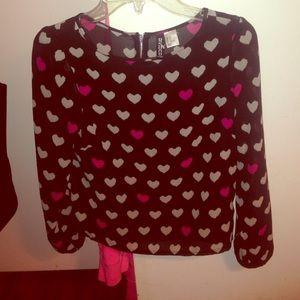 Long sleeve patterned blouse