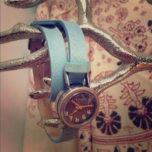 blue double wrap watch!