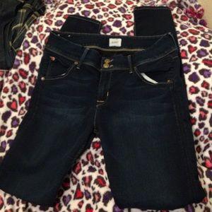 Hudson Jeans, Collin Flap Skinny Jeans.dark wash