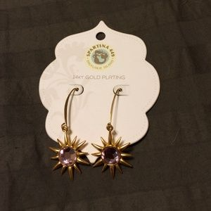 spartina 449 Jewelry - 14k gold plated star earrings
