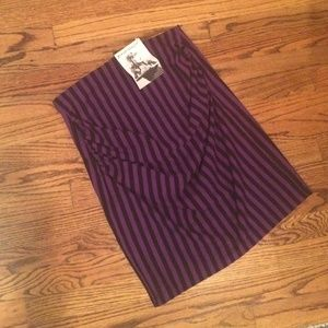 Betsey Johnson Striped Skirt