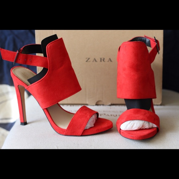Red Orange Zara Heels
