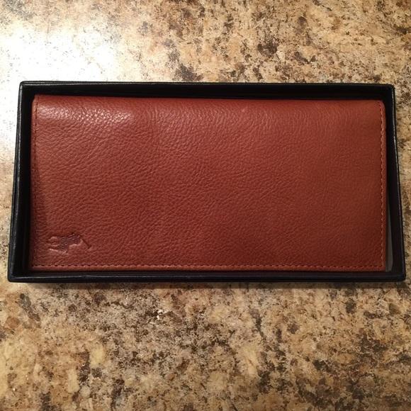 9678098e Polo Ralph Lauren leather checkbook wallet NWT