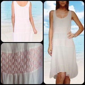 Dresses & Skirts - ROMANCE RUFFLE WHITE BLUSH SLEEVELESS DRESS