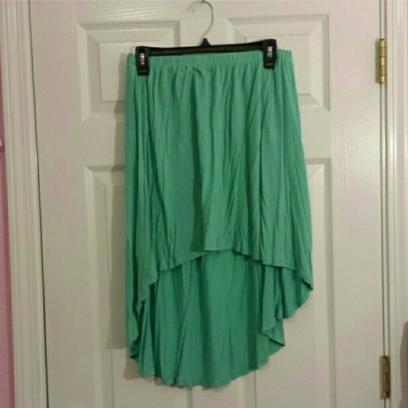 72 dresses skirts green high low skirt from