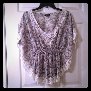 Tops - Lace trim blouse. Never worn!