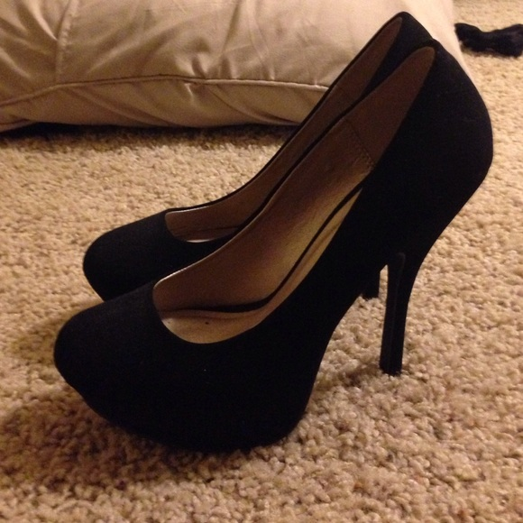 73% off Qupid Shoes - Cute black heels from S's closet on Poshmark
