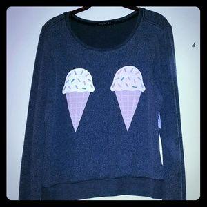Wildfox Ice Cream Cones Grey Jumper
