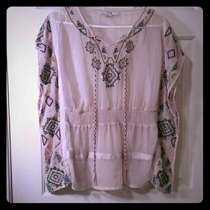 Tops - Pretty boho top with sinch waist.