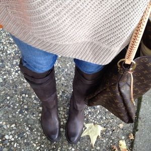 Frye Shirley strappy knee high boots