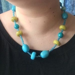 Jewelry - Turquoise and Lime necklace
