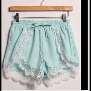 2 a T Boutique  Other - 🎉SALE  🎉 Mint Lace trim shorts