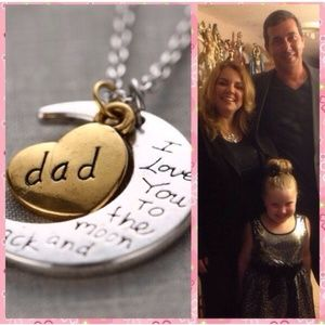 Other - ❤️DAD I LOVE YOU tothe🌙 & BACK KEYCHAIN NECKLACE