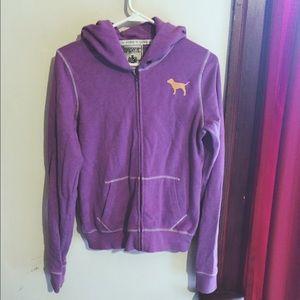 VS Pink full-zip hoodie