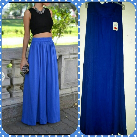 julia - High waist blue maxi skirt from Lily ..price negotiable ...