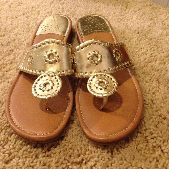 4efafa716149 Jack Rogers Shoes - Gold palms sandals