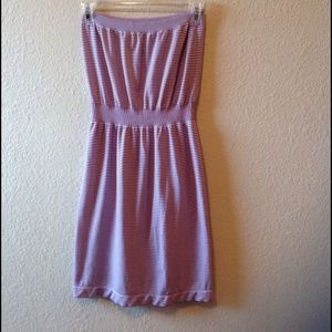 Victoria's Secret, purple & white strapless dress