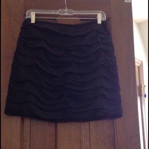 Aqua Ruched Mini Skirt