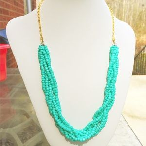 Handmade (by me!) turquoise braided necklace