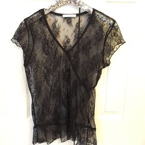 Charlotte Russe Black Lace Top