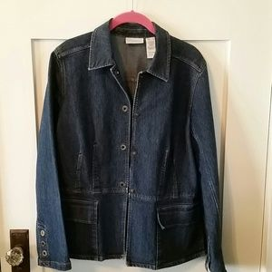 Liz Claiborne Denim Jacket, size L
